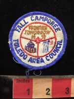 AS-IS Vtg 1978 BSA Patch Toledo Area Council Camporee Frontier Tomorrow 70WC