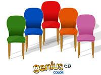 2 COPRISEDIA vesti sedia 2 pezzi GENIUS copriseggiola imbottito schienale seduta
