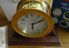 WEEMS & PLATH QUARTZ CLOCK WITH MAHOGANY STAND MARINE ATLANTIS COLLECTION