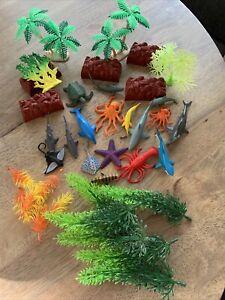 Underwater Adventures Sea Animal Playset plants diorama etc.