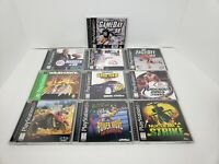 Lot Of (10) PS1 Games- Warhawk, Nuclear Strike, Pro Wrestling, NFL Gameday,.....