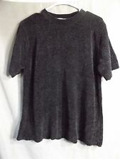 Ladies Sweater by TR Bentley, Plus size 1X, black with short sleeves, Beautiful