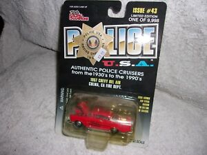 RACING CHAMPIONS POLICE U.S.A.1957 CHEVY BEL AIR COLMA CA FIRE DEPT #43