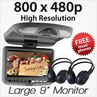 """9"""" Car Roof CD DVD USB SD Player Mount mounted Flip Down Monitor Screen Display"""