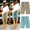 Womens Ladies Combat Chino Cargo Shorts Knee Length Holiday Pants Plus Size 6-22