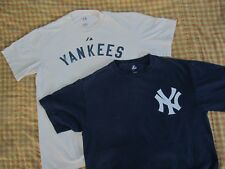 Lot of 2 New York Yankees 25 TEIXEIRA Blue and White T shirts L Large 22 by 29