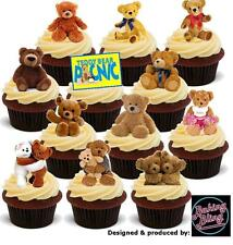 Novelty Teddy Bears Picnic Mix 36 Party Pack Edible Cake Toppers Kids Birthday