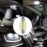 10x White 36MM 6 LED 5050 Festoon Dome Map Car RV Light Interior Lamp Bulb Kit