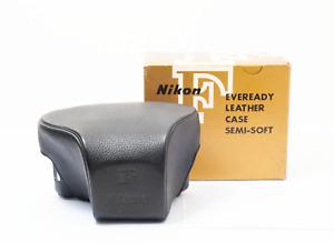 Nikon F Eveready Leather Case semi-soft All Original w/ neck strap