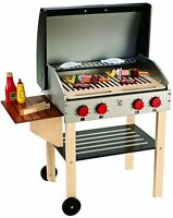 E3127 HAPE Gourmet Grill Wooden Set & Food [Playfully Delicious] Children 3Yrs+