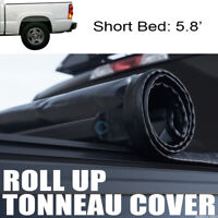 Fit 04-07 Chevy Silverado/GMC Sierra 5.8 Ft Bed Roll-Up Soft Vinyl Tonneau Cover