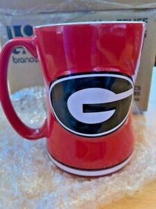 Georgia Bulldogs RED 14oz Sculpted Relief Coffee Mug NCAA