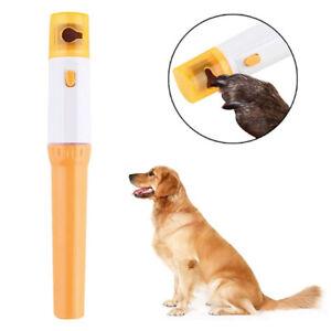 Pet Dog Cat Nail Grinder Trimmer Clipper Electric Pet Nail File kit.UK ZY