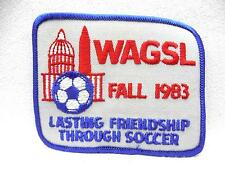 Vintage Embroidered Patch Wagsl Fall 1983 Lasting Friendship Through Soccer Mint