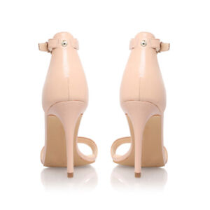 """SEXY Nine West """"MANA"""" Women US 12 M Natural Patent Open Toe Ankle Strap"""