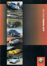Alfa Romeo 2002 UK Market Foldout Sales Brochure 147 156 GTA GTV Spider 166