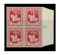 New Zealand 1934 Health Crusader Marginal Block/4 Stamps SG555 MUH 10-4