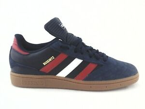 ADIDAS Busenitz Skate Shoes Navy Suede Red White w Gum Soles FV5876 Men's NEW *