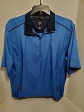 NIKE Golf Jacket Mens Large Light Weight Pull Over Wind Breaker Short Sleeve