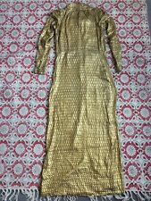 1970s Vintage Long Dress / Gold Metallic / Incredible Statement Piece / Maxi