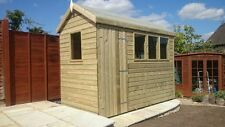 APEX EXTRA HEIGHT STORAGE SHED 8 x 6 19mm pressure treated Tanalised T&G