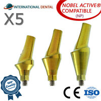 5 Anatomic Angular Abutment 15° (NP) Nobel Biocare Active Hex, Dental Implant