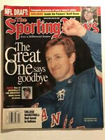 1999 Sporting News NEW YORK Rangers WAYNE GRETZKY Retires THE GREAT ONE No Label