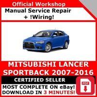# FACTORY WORKSHOP SERVICE REPAIR MANUAL MITSUBISHI LANCER 2007-2016 +WIRING