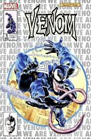 🕸 VENOM #1 MIKE MAYHEW Exclusive White Silver Variant 💥 Ltd to 1000 NM