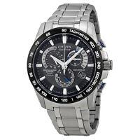 Citizen Perpetual Chrono A-T Eco-Drive Titanium Chronograph Mens Watch AT4010-50