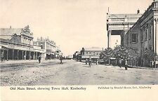 Africa postcard Kimberley, Old Main Street showing Town Hall, South Africa