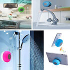 Waterproof Hands-free Shower Bluetooth Mini Speaker Player with Mic Sucker New