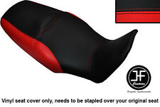 BLACK & RED VINYL CUSTOM FITS HONDA XL 1000 V VARADERO 08-13 DUAL SEAT COVER