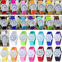 Unisex Fashion Jelly Quartz Silicon Wrist Watch Bracelet Women Student HOT