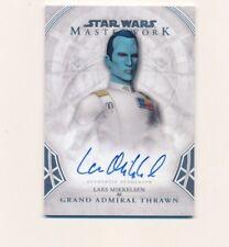 2018 Star Wars Masterwork Lars Mikkelsen Grand Admiral Thrawn Auto Autograph