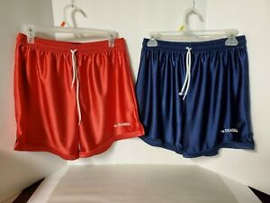 "Diadora Men's ""M"" Shorts Lot of 2 Pair Blue & Red Sports Fitness VGC!"