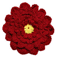 Marie/'s Creations Blue//Yellow Floral Double Sided Crochet Hot Pad Trivet Details about  /New