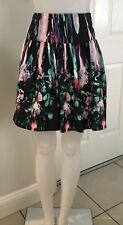 ALANNAH HILL Short Skirt Size 6 Black Green Pink Purple Gathered EXCELLENT