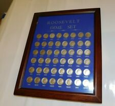 Roosevelt Silver Dime Collection 1946 - 1964 D   in frame      ....215 L