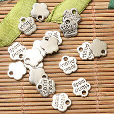 100pcs dark silver color Hand made lettering  charms  EF2700