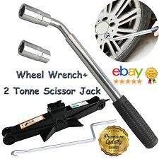 Wrench Tool Foldable Adjustable Lug Nut Socket Wheel Tire Kit+2 Ton Scissor Jack
