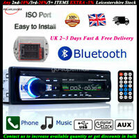 1 Din Car Radio Bluetooth Stereo MP3 Player FM/USB/AUX/SD In-dash Head Unit 12V