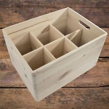 Large Plain Wooden Storage Box /Handles & Removable Compartments/Decorative DIY