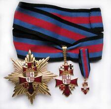 Award Memorable Order Union of 5 Orders of Knight Chivalric Enamel Original Rare