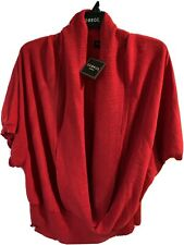 Women's Plus Size George V Neck Metallic Sweater - Red - 4X / See My Description