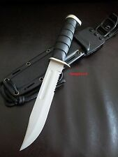 Combat Marine Knife,Ka-Bar Inspired Design,+Sheath,Military,Tactical,Hunting