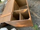 19th century grain bin box wood porch hand planed antique Country