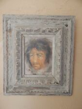 Origianl Oil on Board, signed Carlos Sandoval, '78, portrait of native, framed