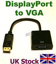 DisplayPort DP to VGA Adapter Converter Cable   DP 2 VGA SVGA - UK Stock