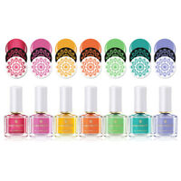 BORN PRETTY 6ml Nail Stamping Polish Colorful Nail Art Plate Printing Varnish